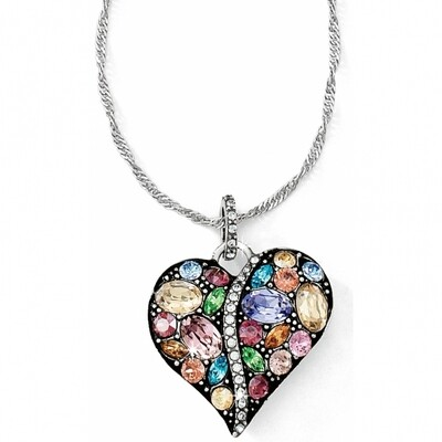 Brighton Trust Your Journey Heart Necklace