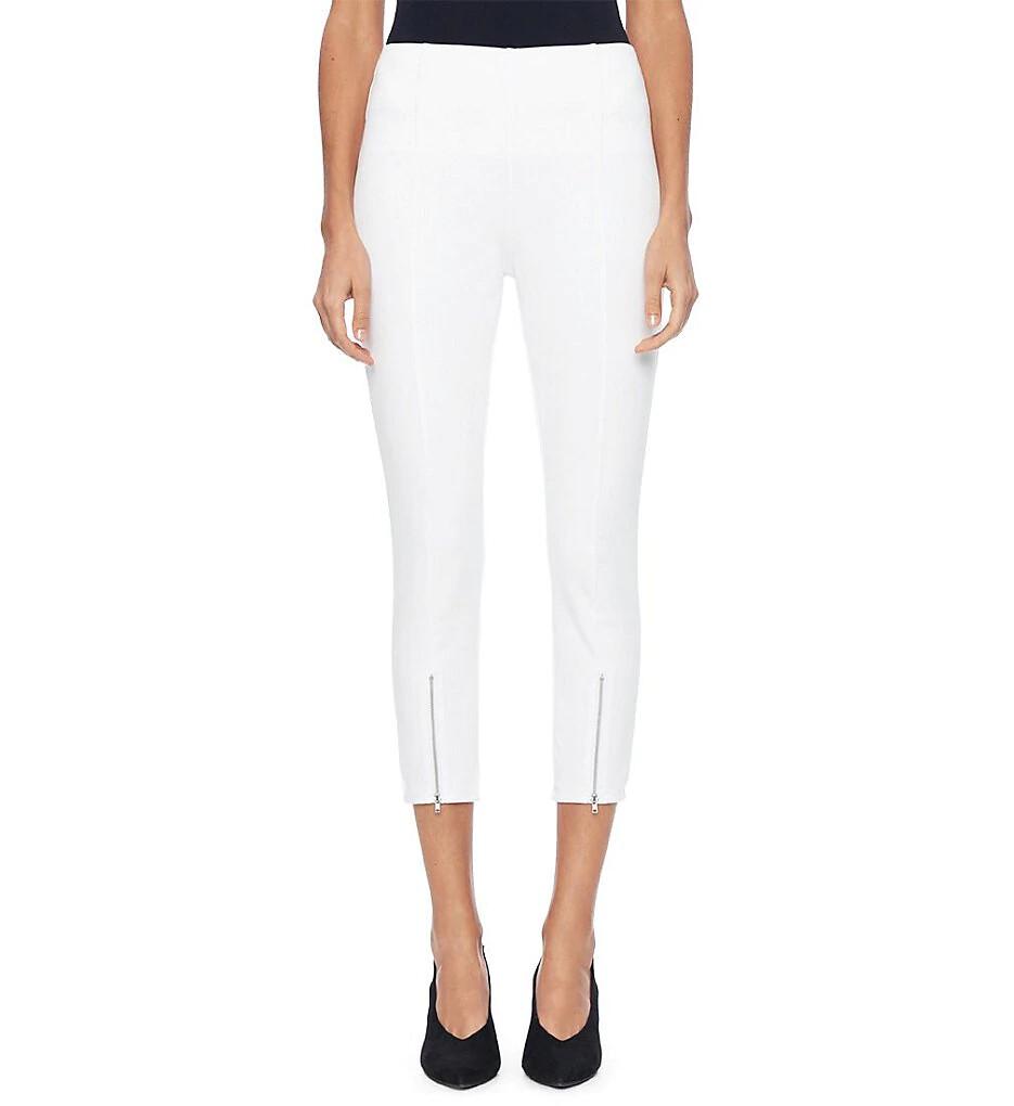 Lysse front zip white denim legging - S