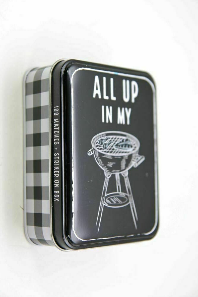 Tin Matchbox set - grill