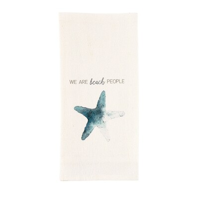 Watercolor Shell Towel - we are