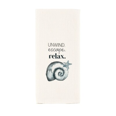 Watercolor Shell Towel - unwind