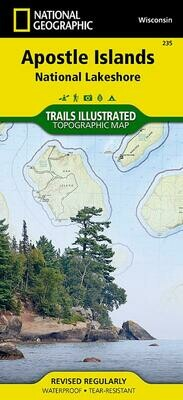 NatGeo Apostle Islands Map