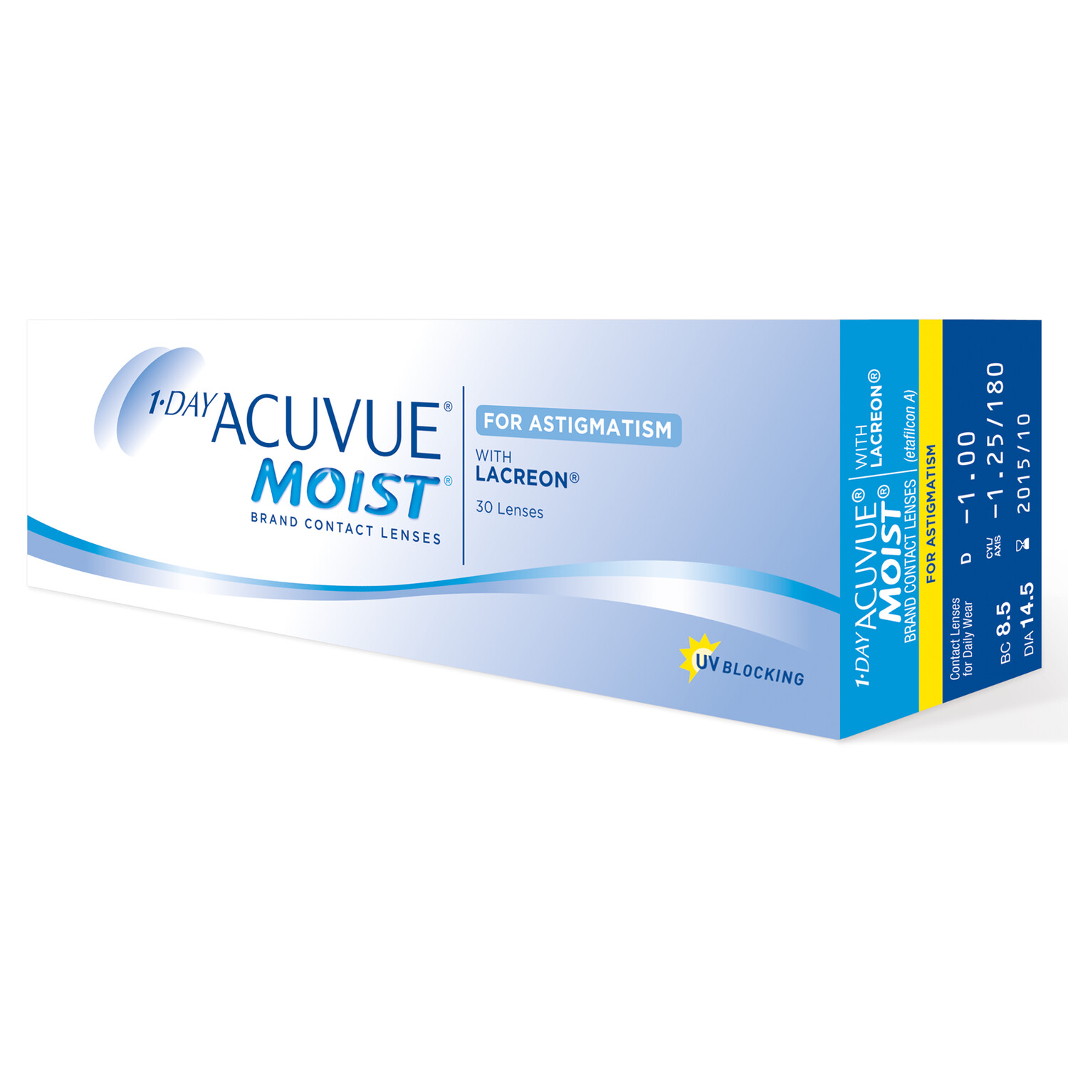 1-DAY ACUVUE® MOIST for ASTIGMATISM 30 LENS BOX