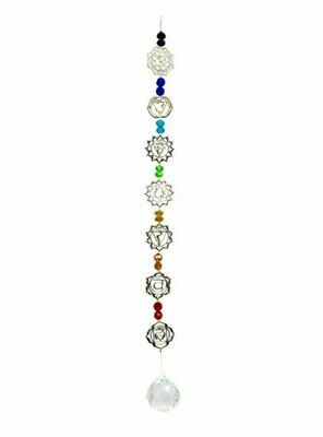 7 Chakra Hanging Crystal With Beads