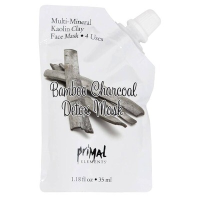 Primal Elements Multi-Mineral Kaolin Clay Bamboo Charcoal Face Mask