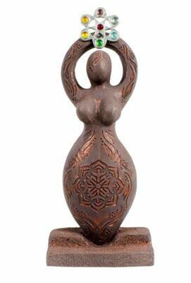 Gypsum Cement Lotus Goddess Figurine