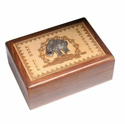 Laser Engraved Good Luck Elephant Box