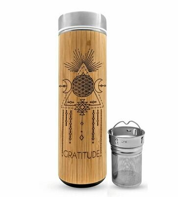 Bhavana Bamboo Water Bottle with Infuser 15.2 oz