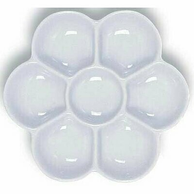 Watercolor Sectional Dish, 7 Section Porcelain