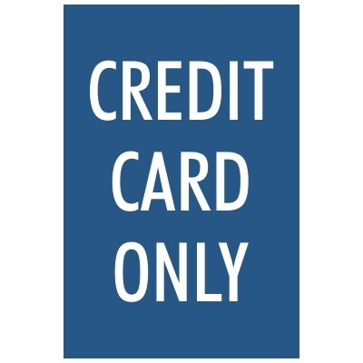 Credit Card Only - Sign