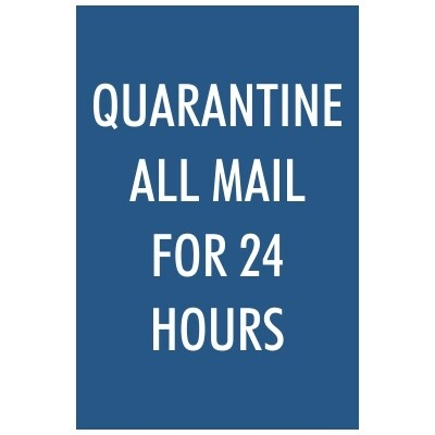 Quarantine All Mail for 24 Hours - Sign