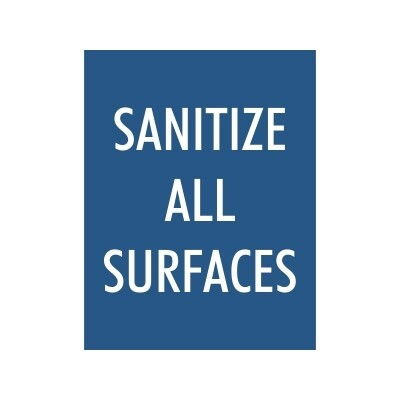 Sanitize All Surfaces - Sign