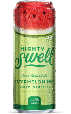 Mighty Swell Hard Seltzer Watermelon Mint - 1 CAN