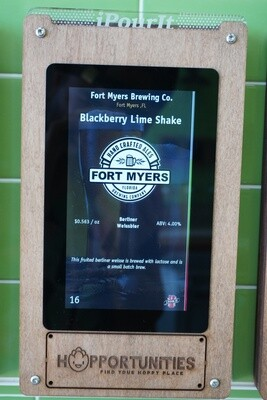 Fort Myers Brewing Company - Blackberry Lime Shake Berliner - 16 Ounce Crowler