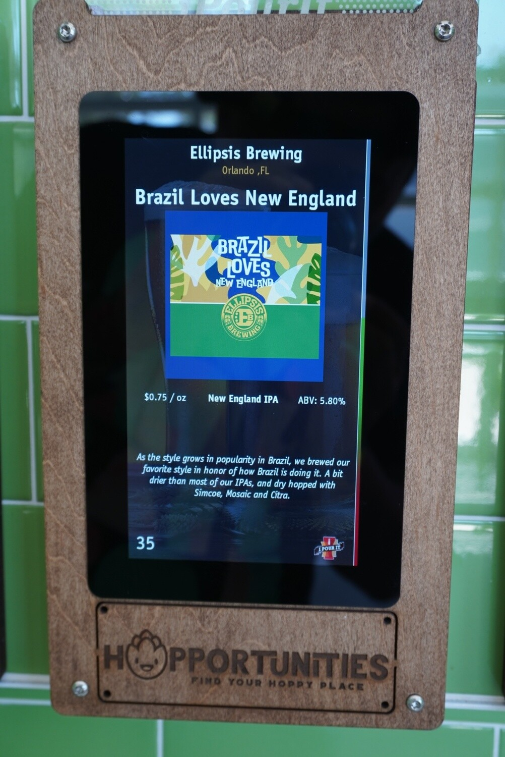 Ellipsis Brewing - Brazil Loves New England - New England IPA