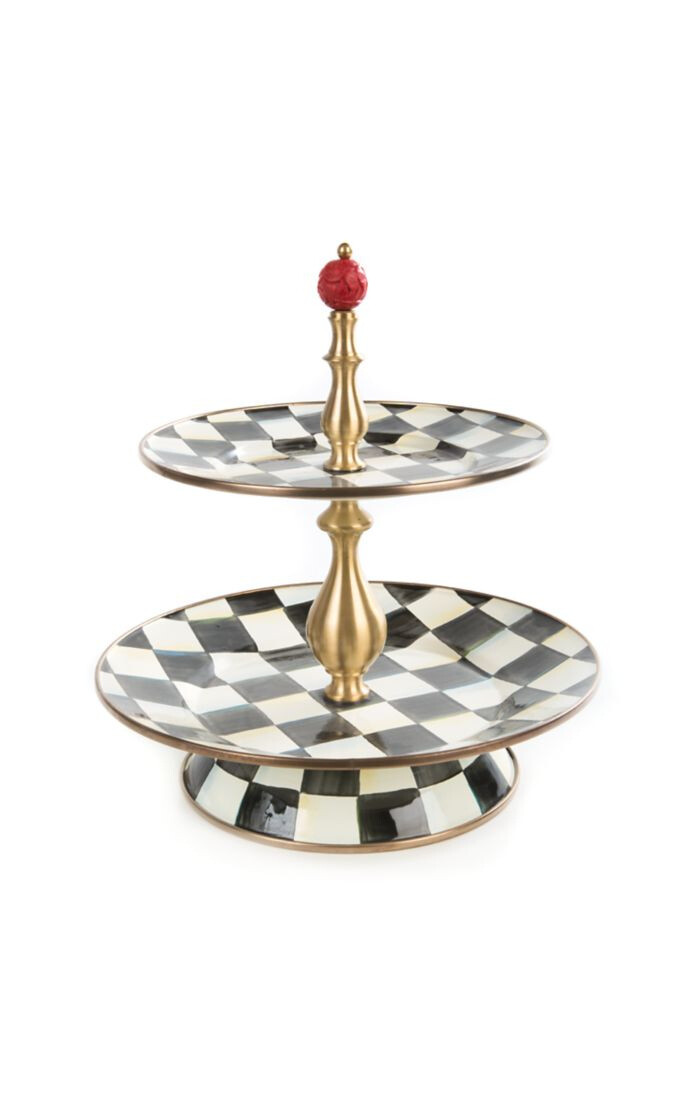 CC Enamel Two Tier Sweet Stand