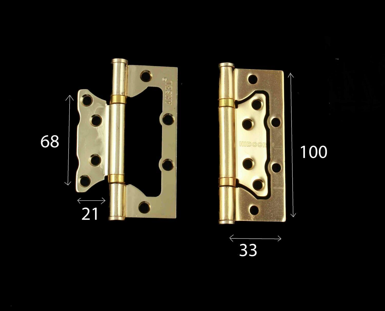 Դռան ծղնի Aksel չփորովի GP 4* 2.5*2 (ոսկեգույն)