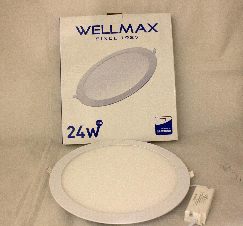 Էլ.պլաֆոն LED Wellmax կլոր 24W 6500K