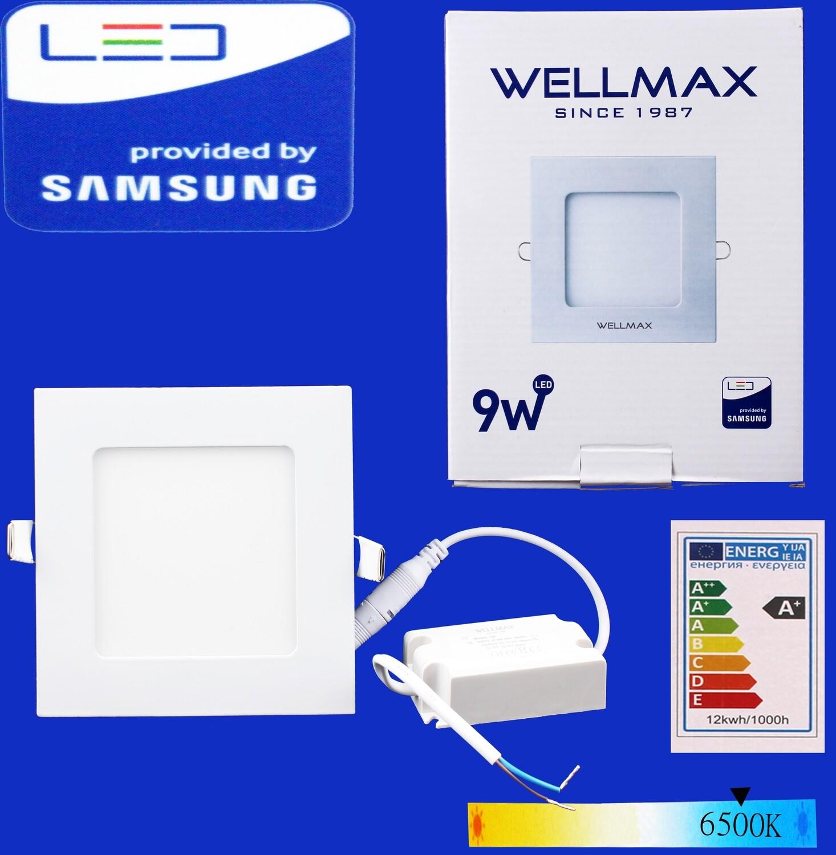 Էլ.պլաֆոն LED Wellmax քառակուսի 9W 6500K