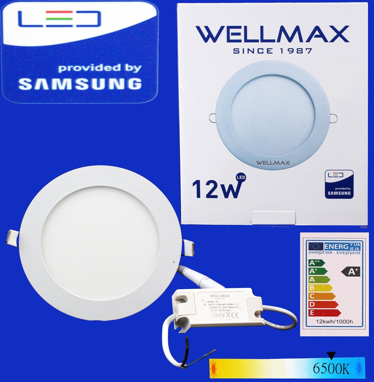 Էլ.պլաֆոն LED Wellmax կլոր 12W 6500K