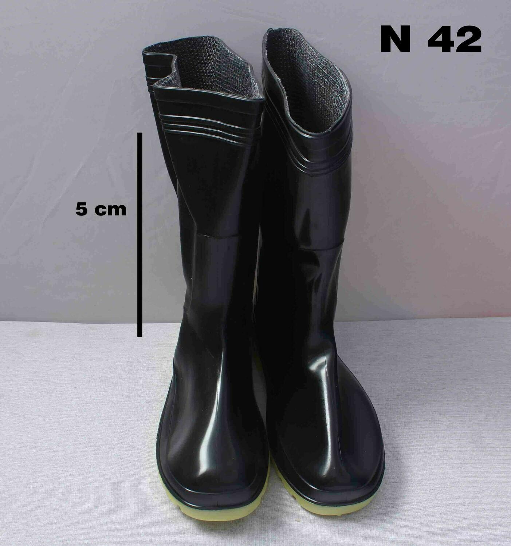 Սապոկ ռեզինե  դեղին տակով (կարճ)  N42