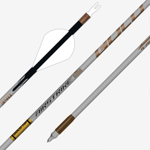 Gold Tip Airstrike 6 Pack Arrows Fletched 34796