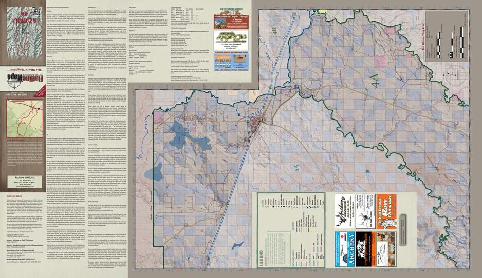 Map Of Unit 4a Arizona.Flatline Maps Arizona Hunt Unit 4a