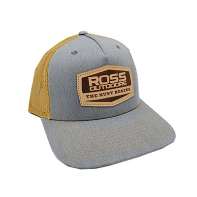 Ross Outdoors GRAY & GOLD Snapback