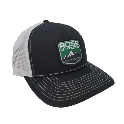 Ross Outdoors Patch Snapback Black