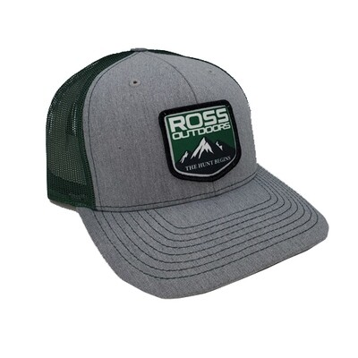 Ross Outdoors Patch Snapback GRAY & GREEN