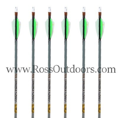 Gold Tip Airstrike 6 Pack Arrows Fletched