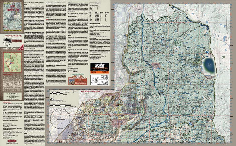 Unit 6a Arizona Map.Arizona Flatline Hunt Unit 6a Map Shop Ross Outdoors Archery And