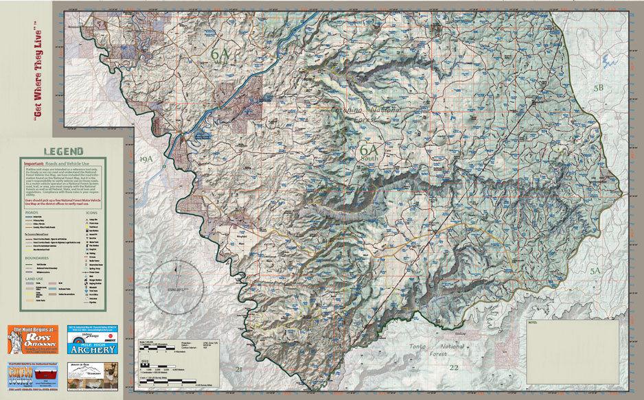 Unit 6a Arizona Map.Arizona Flatline Hunt Unit 6a Map Maps Store Ross Outdoors