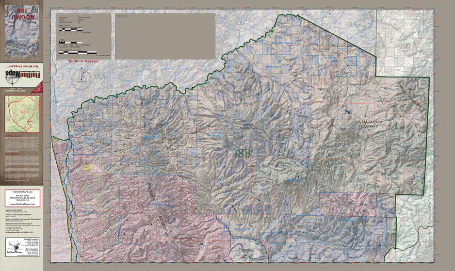 a669eaac24 Arizona flatline hunt unit map shop ross outdoors archery jpg 938x559 Flatline  outdoors