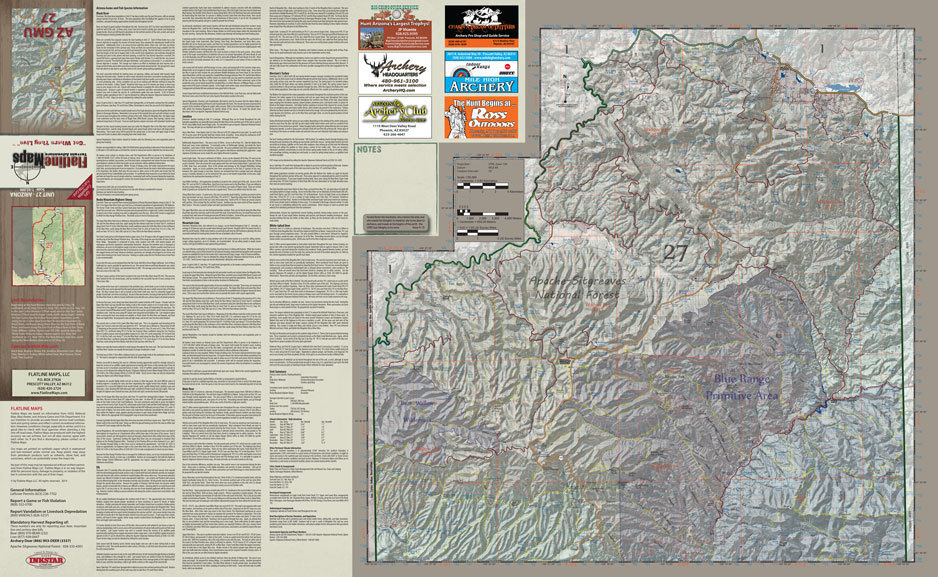 fc1382d3d6 Arizona flatline hunt unit map shop ross outdoors archery jpg 938x577 Flatline  outdoors