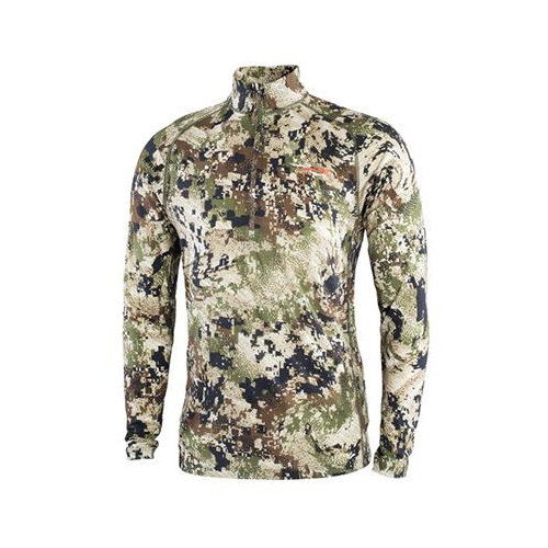 Sitka Merino Core Lightweight Half-Zip Optifade Subalpine