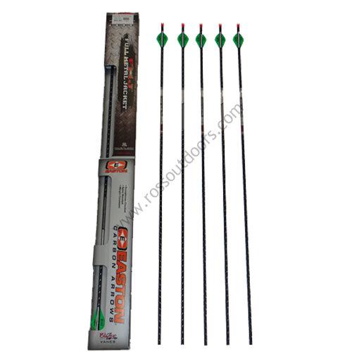 Easton Full Metal Jacket 5mm 6 Pack Arrows 34450