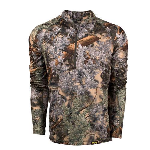 King's XKG Elevation 1/4 Zip Long SLeeve Shirt Desert Shadow 34468