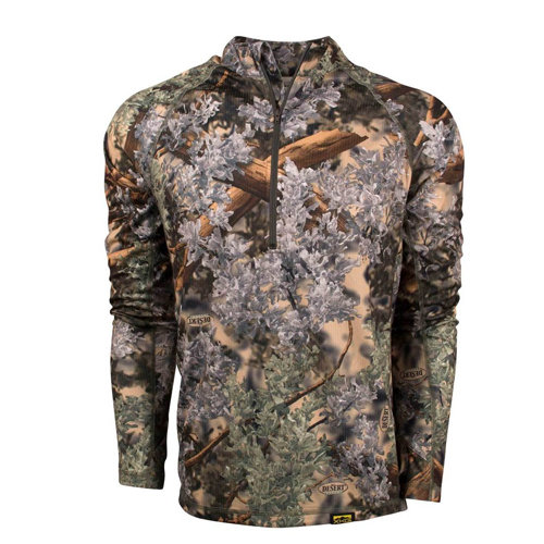 King's XKG Elevation 1/4 Zip Long SLeeve Shirt Desert Shadow