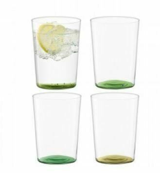 LS016 Thin Glass Tumblers - Large Set/4 - Leaf