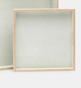 MG012 Small Faux Shagreen Tray-Off White