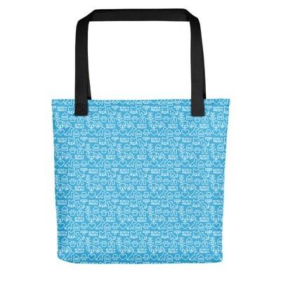 KC Pet Project - Cyan Tote Bag