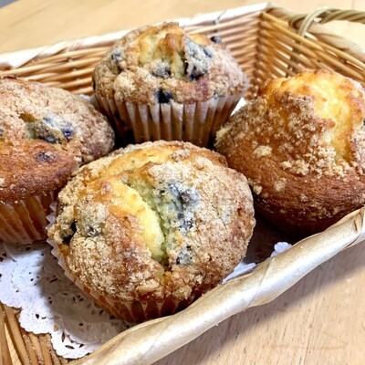 Muffins / 4 lemon-blueberry