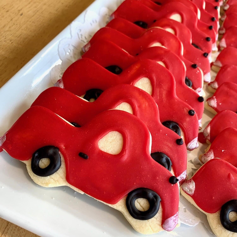 Cookies / 4 red trucks