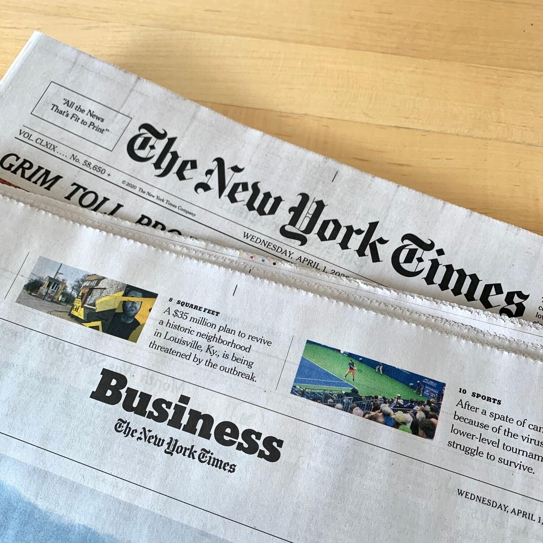 News / NY Times weekdays