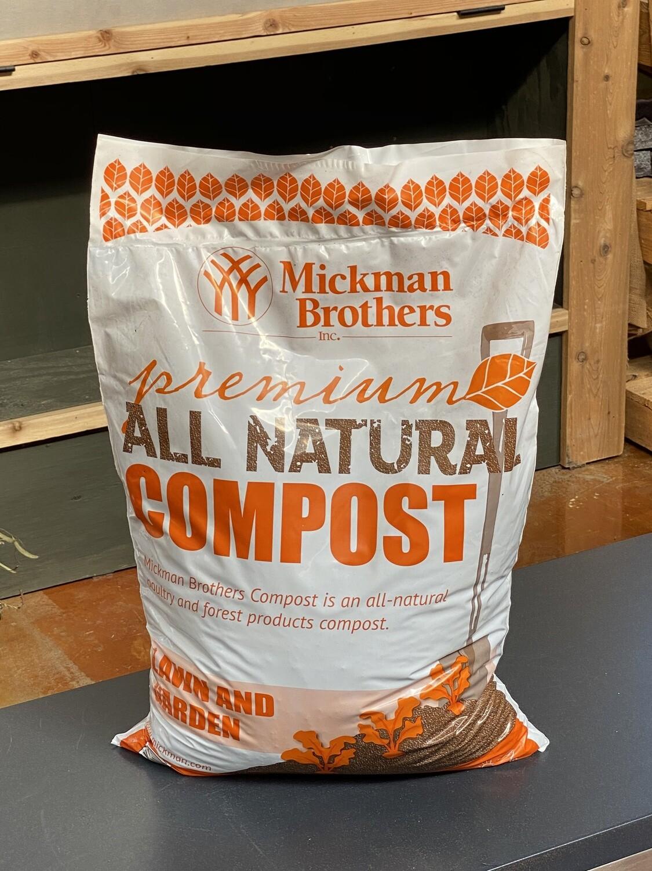 1cu/ft Mickman Brothers Premium All Natural Compost