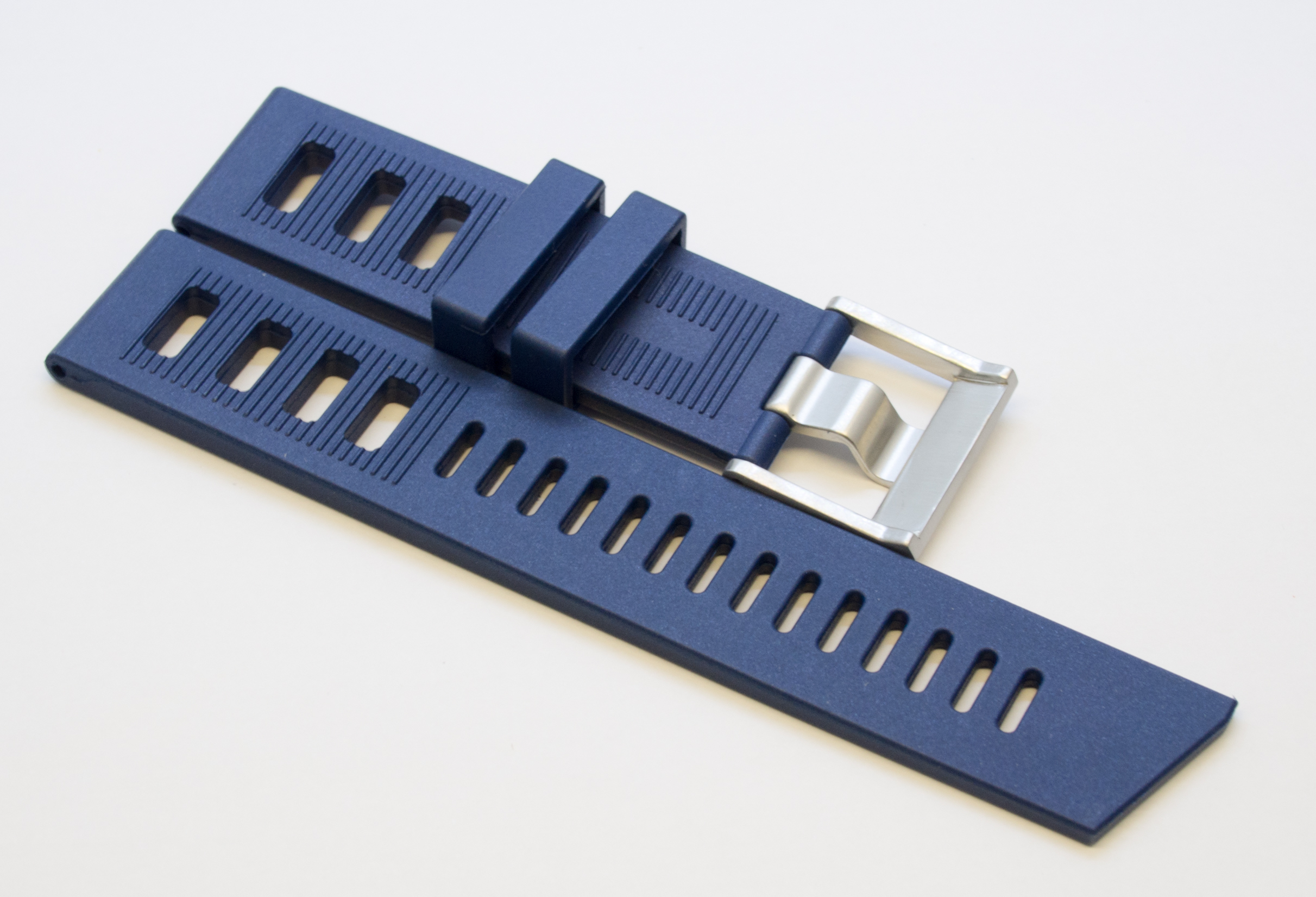 Borealis Rubber Strap 22mm Blue