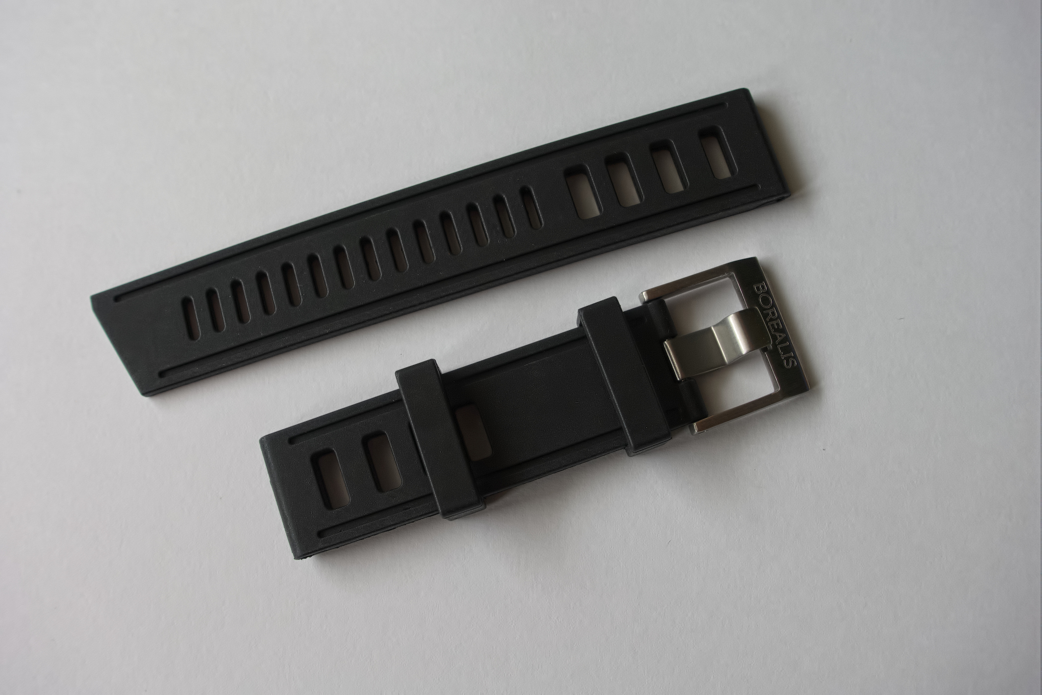 Borealis Rubber Strap 22mm Black