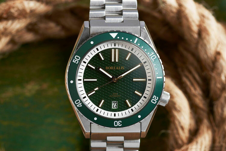 Pre-Order Deposit Borealis Olisipo Green BD1 Date Miyota 9015