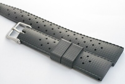 Borealis Vulcanized Tropic Style Strap 20mm Boavista Black - Best Offer in Market for Diver Watches